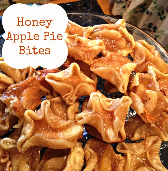 honey apple pie bites