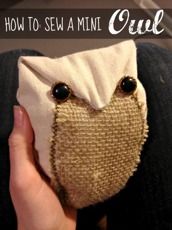how to sew owl