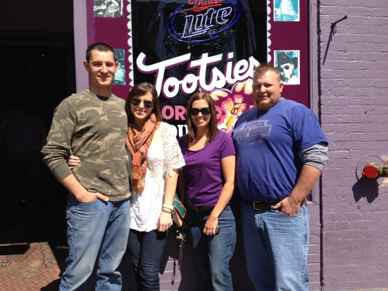The crew @ Tootsie's Saturday morning.