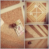 DIY: Striped Pin Board