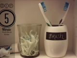 DIY: 5 Minute Toothbrush Holder